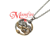THE NEVERENDING STORY AURYN Ouroboros Talisman Necklace