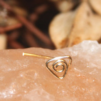Triangle Nose Stud, Triangle tragus, cartilage Stud, Daith, Nose Ring, triangle Nose Ring, Open triangle, Nose Ring