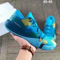 Under Armour 2018 new trend breathable and comfortable cushioning training shoes blue
