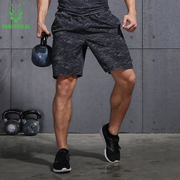VANSYDICAL Men Running Shorts Jogging Joggers Training Sports Sportswear Loose Breathable Fitness Exercise Gym Shorts Clothes