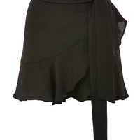 Ruffle Tie Mini Skirt - Skirts - Clothing