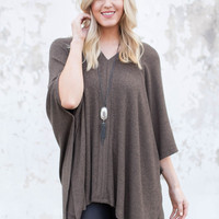 Live Fast Poncho Sweater