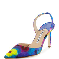 Carolyne Tie-Dye High-Heel Pump, Multicolor