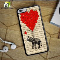 Elephant And Heart iPhone 6S Plus Case by Avallen