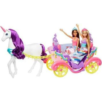 Barbie Dreamtopia Princess Dolls & Carriage