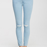 Life in Progress Distressed Low-Rise Skinny Jeans