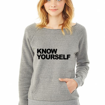 Know Yourself ladies sweatshirt