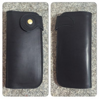Long Leather Snap Wallet