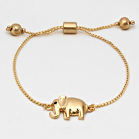 Elephant Link Chain Adjustable Bracelet