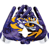Nike Vapor Jet 3.0 On-Field (LSU) Men's Football Gloves