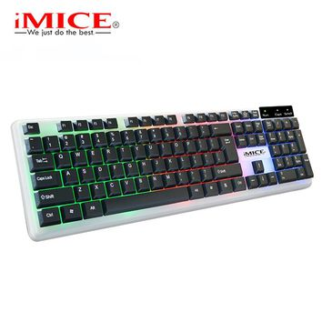 imice Keyboards English Gaming Keyboard 104 Keys backlit keyboard Waterproof LED Gamer Backlit keyboard For Desktop
