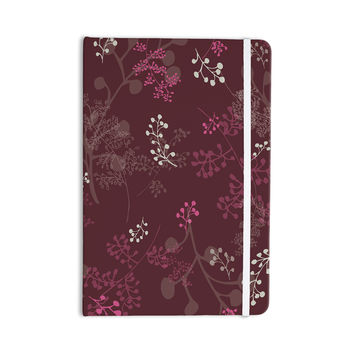 "Laurie Baars ""Ferns Vines Bordeaux"" Maroon Floral Everything Notebook"