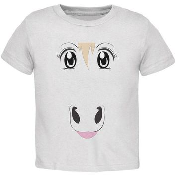 DCCKJY1 Anime Horse Face Uma White Toddler T-Shirt