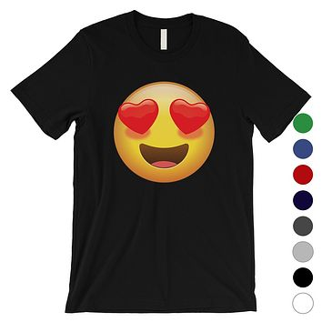 Emoji-Heart Eyes Mens Loving Cute Sweet Emoji Costume T-Shirt Gift