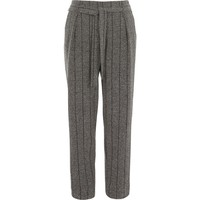 Grey herringbone check tapered pants - Tapered Pants - Pants - women