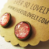 pink ruby slipper earrings handmade sparkly metallic by EverSoLovely