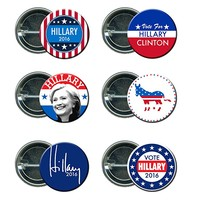 Hillary Clinton Round Button / Pin Mini Combo Campaign Set 2