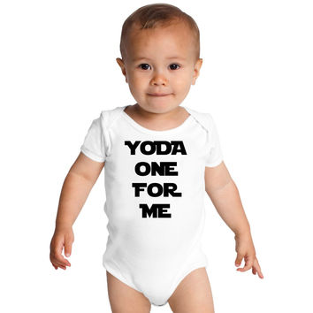 Yoda One For Me Baby Onesuits