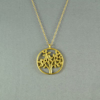 Life Tree Necklace 18K Gold Vermeil 14K Gold by WonderfulJewelry