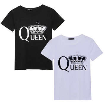 Summer Women T-Shirts Short Sleeve Tops Tees Tshirt Fashion Ladies Imperial crown Printed