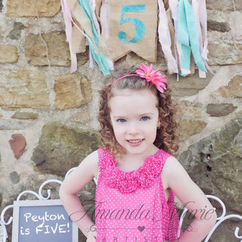 Birthday Banner , Party Supplies, Personalized Banner, Photo props, Burlap Banner, Custom banner