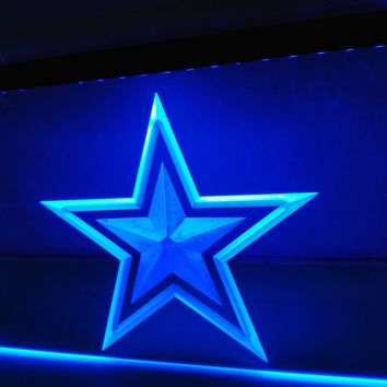 LA127b- Dallas Cowboys Bar Pub Beer Logo LED Neon Light Sign
