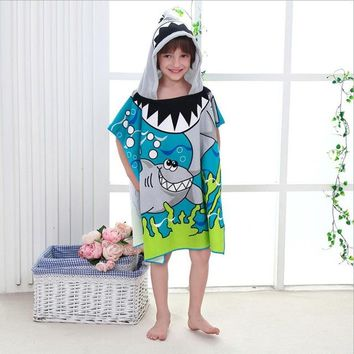 Cartoon Bath Robe Summer Boys And Girls Hooded Towel Pokemon kids Bathrobe Kids Swimwear Children Girls Beach Boutique Clothing