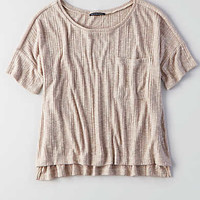 AEO Ribbed Pocket T-Shirt, Oatmeal
