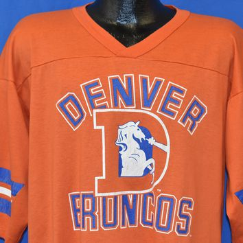 80s Denver Broncos Jersey Style t-shirt Extra Large
