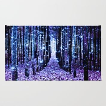 Magical Forest Turquoise Purple Rug by 2sweet4words Designs