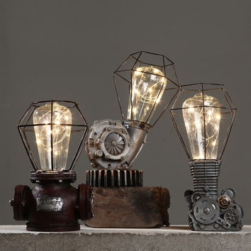 Handcrafted Vintage Machinery Creative lights