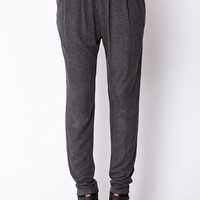 Relaxed Pleated Harem Pants