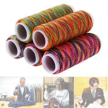 5Pcs Rainbow Color Sewing Threads Hand Quilting DIY Embroidery Sewing Thread Kit Needlework Wool Yarn Tool Sewing Accessories