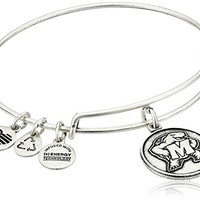 Alex and Ani University of Maryland Logo Expandable Rafaelian Silver Bangle Bracelet