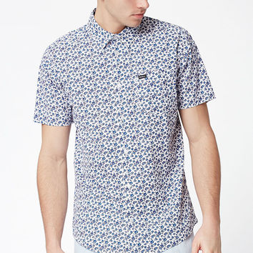 RVCA Porcelain Floral Short Sleeve Button Up Shirt at PacSun.com