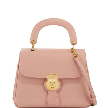 Burberry Trench Large Saffiano Top Handle Bag, Light Pink