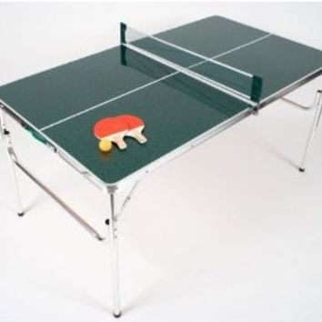 World Outdoor Products New Improved Design MASTER PONG MINIATURE SIZED Ping Pong Table Set with TWO THREE STAR Balls and TWO PADDLES! THIS IS NOT A FULL SIZED, REGULATION PING PONG TABLE!