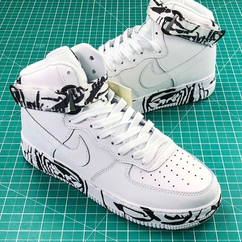Nike Air Force 1 High Lx White Black Fashion Shoes - Best Online Sale