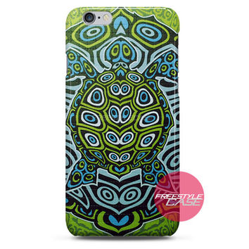 Ocean Turtle Ethnic Art iPhone Case 3, 4, 5, 6 Cover
