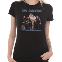One Direction Group Boxes Girls T-Shirt