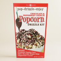 DARK CHOCOLATE AND PEPPERMINT DRIZZLED POPCORN