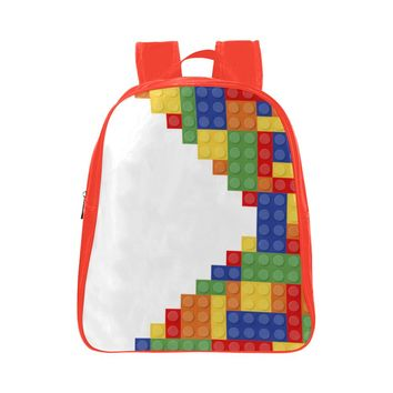 Blocks - Kids Red Small School Backpack