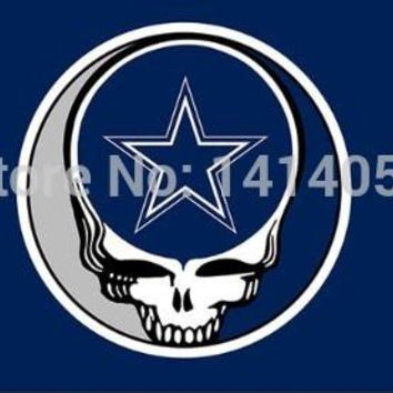 Dallas Cowboys Stealing Your Face  flag150X90CM Banner 100D Polyester flag brass grommets 001, free shipping