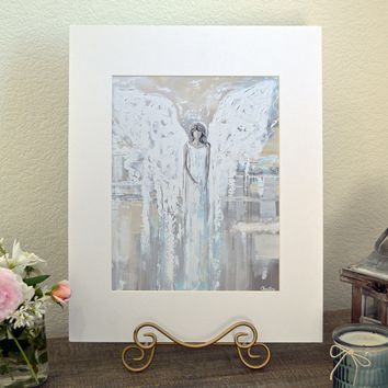 """""""Angel of Love"""" LIMITED EDITION, MATTED & SIGNED by Artist Giclee Print Abstract Angel Painting 16x20"""""""
