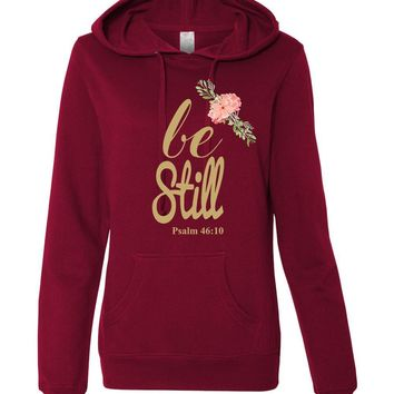 Be Still Women's Lightweight Christian Hoodie