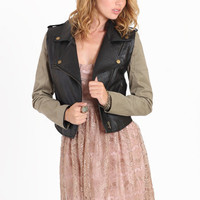 Split Decision Faux Leather Jacket - $83.00 : ThreadSence.com, Your Spot For Indie Clothing  Indie Urban Culture