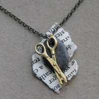 Rock Paper Scissor Necklace by TheBowedArrow on Etsy