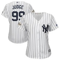 Women's New York Yankees Aaron Judge Majestic White 2017 Postseason