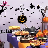 Halloween Witch Pumpkin Wall stickers muraux Party Home Decor halloween decoration DIY Halloween wall stickers for children