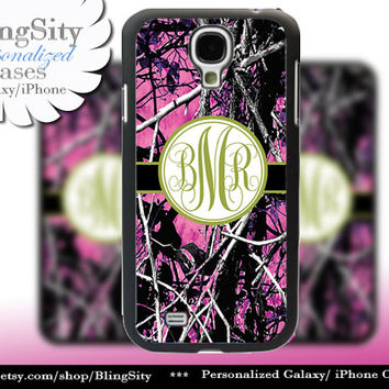 Camo Green Monogram Galaxy S4 case S5 RealTree Muddy Camo Personalized Samsung Galaxy S3 Case Note 2 3 Cover Country Girl